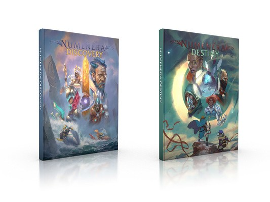 Covers for Numenera Discovery and Numenera Destiny