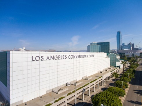 Aerial view of the LA Convention Center