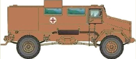 Armored Ambulance with off road tires