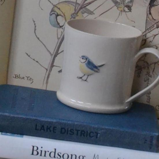 Jane Hogben Blue Tit Mug Expresso