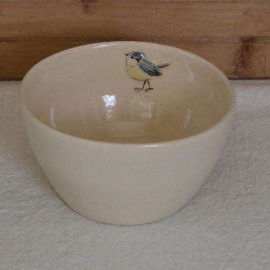 jane hogben bowl blue tit cream