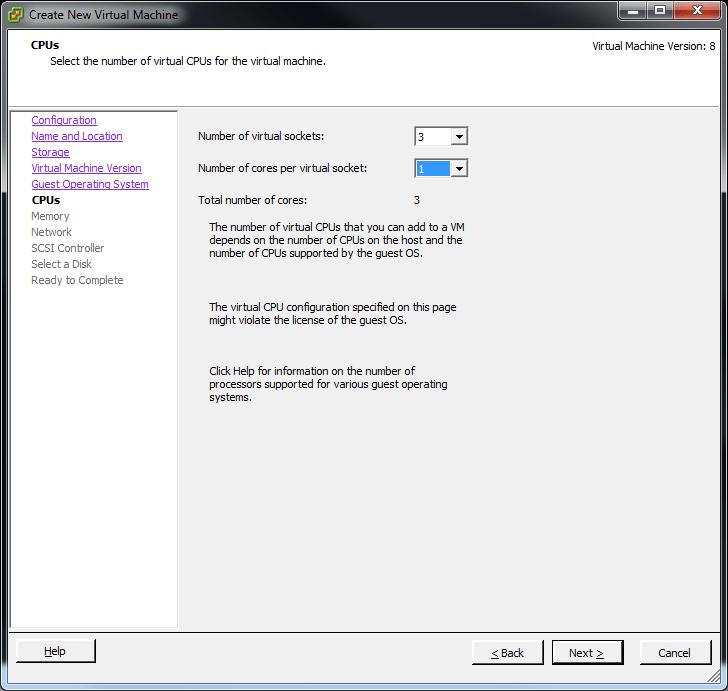 vsphere 5 esxi create vm screenshot