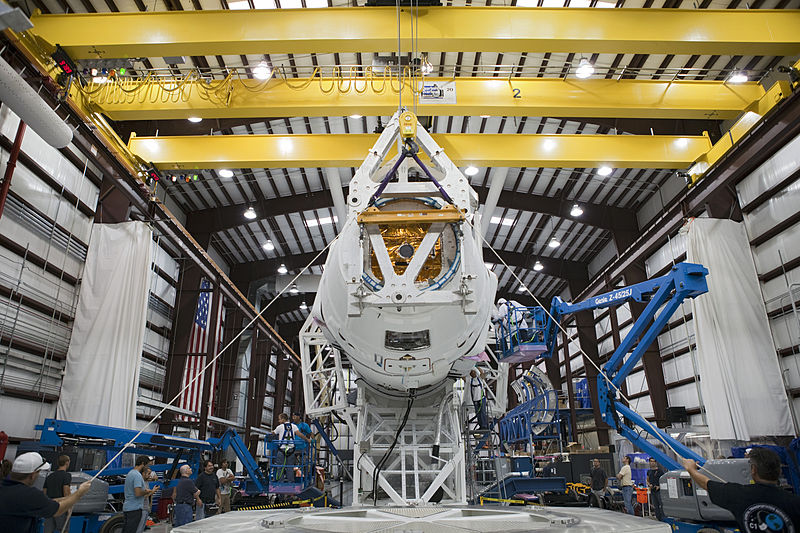 SpaceX Dragon Capsule Launch Prep