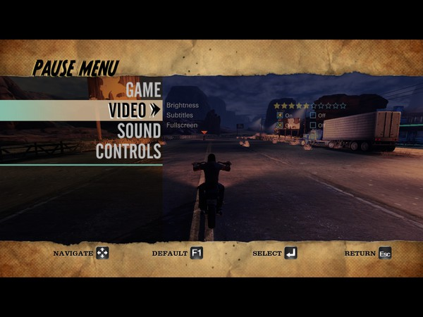 Ride to Hell Retribution Screenshot Wallpaper Video Options