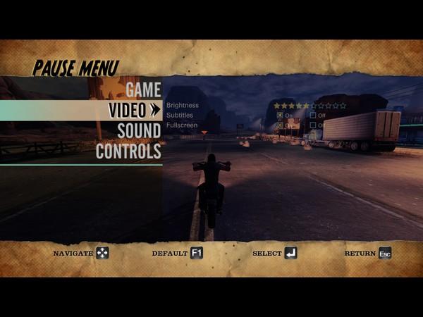 Ride to Hell Retribution Screenshot Wallpaper Video Options