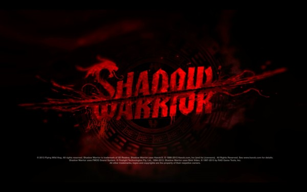 Shadow Warrior Screenshot Wallpaper Title Screen