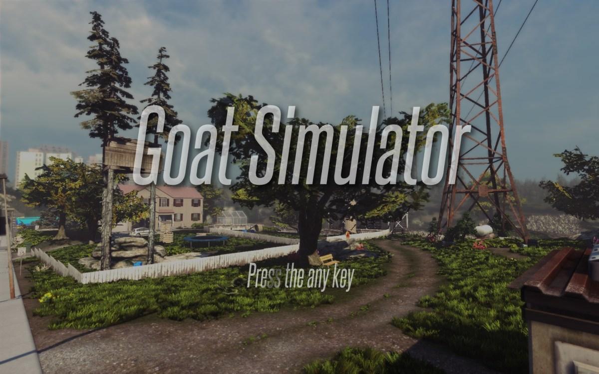Goat Simulator Review Screenshot Wallpaper Title Screen