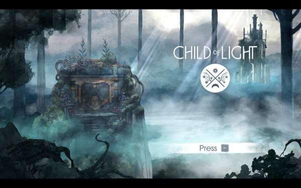 Child of Light Review Screenshot Wallpaper Title Screen