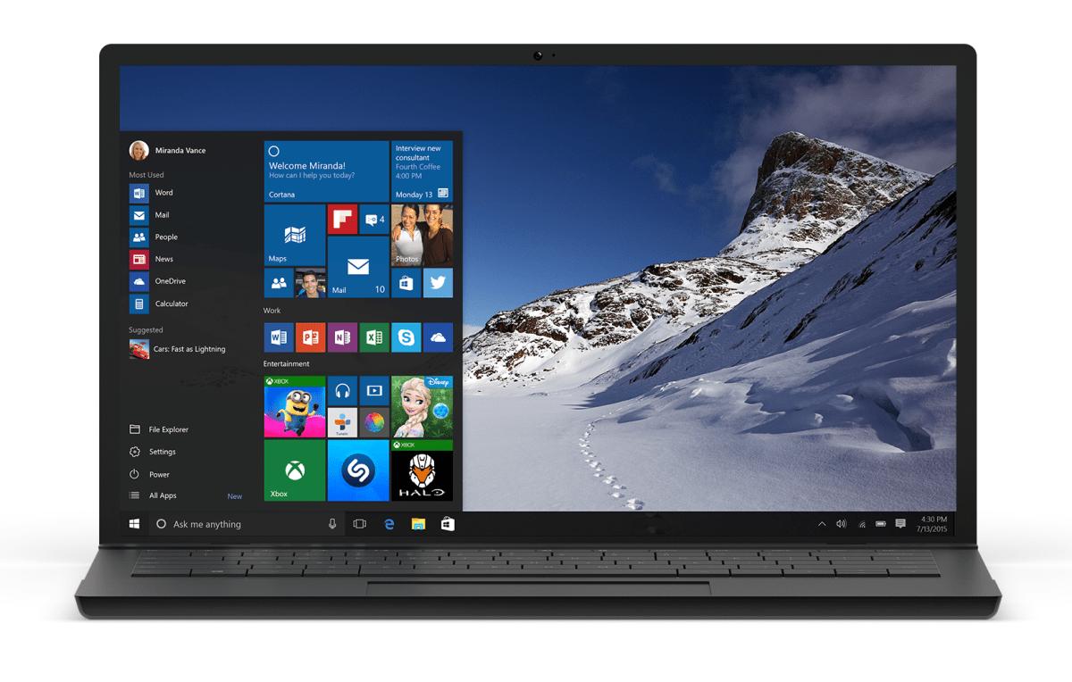 Windows 10 29th July 2015