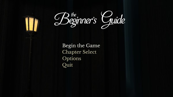 The Beginners Guide Review Screenshot Wallpaper Title Screen