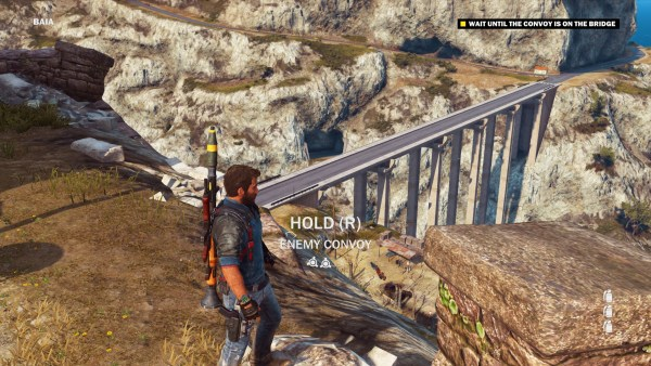 Just Cause 3 Review Screenshot Wallpaper Blowing up a bridge
