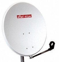 Microwave offset dish