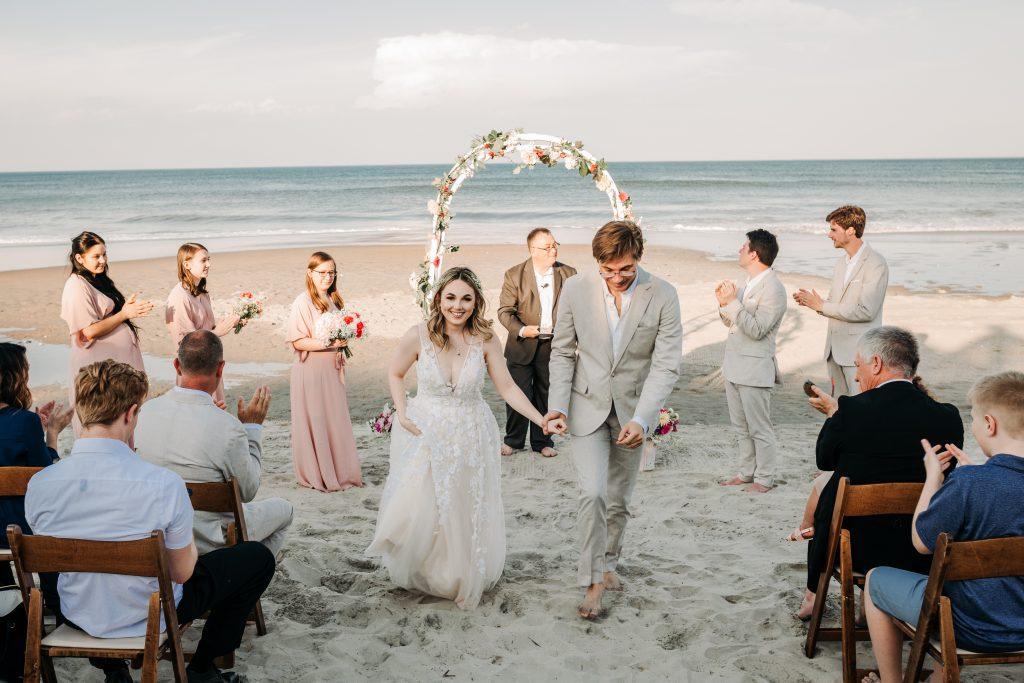 Ceremony photo at corolla beach