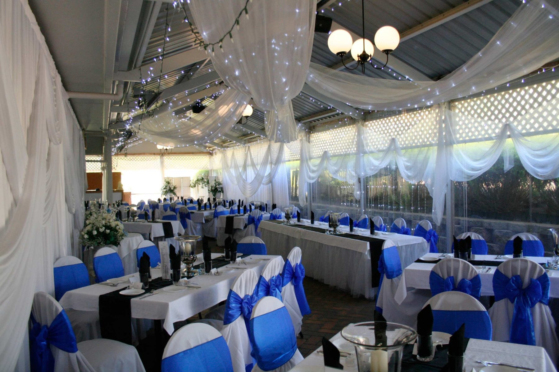 chairs wedding decoration white leather with chrome legs weddings venue - reception and ceremony garden adelaide