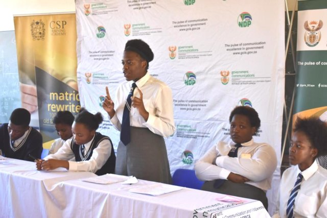 ENGAGEMENT SESSION: Pupils from John Noah High School participated in a pre state of the nation address schools debate recently hosted by the government communication and information system (GCIS) Picture: SUPLIED