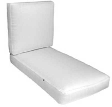 lounge chair cushions cheap outdoor pub height chairs chaise tufted replacement seat cushion