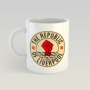 Republic of Liverpool mug with beige logo