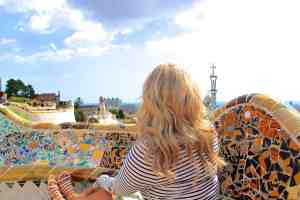 Republic of Rose Park Guell Barcelona Outfit Style
