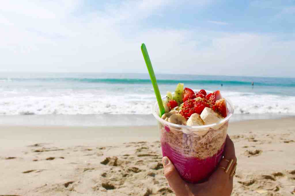 Laguna Beach Travel Guide Republic of Rose Acai Bowl Banzai Bowls