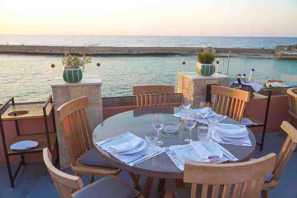 DINING AT PALLAS IN CHANIA, CRETE