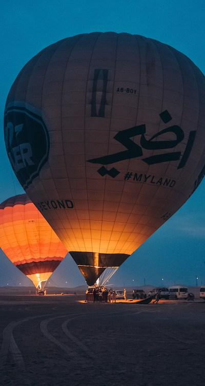BALLOON ADVENTURES DUBAI Mongolfiera sunrise alba