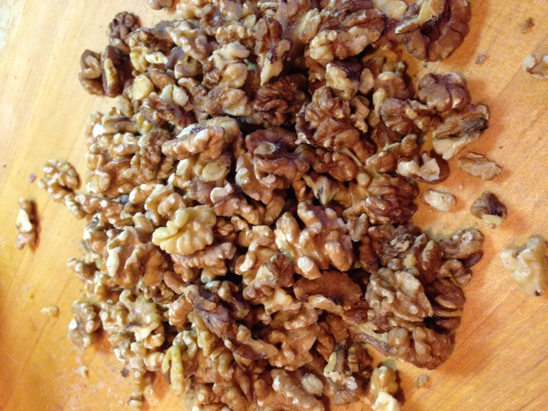 walnuts (not pecans)