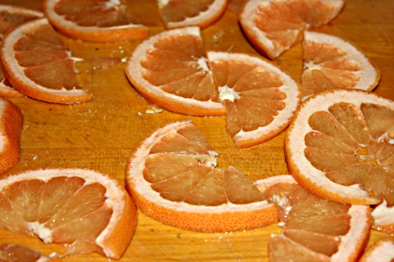grapefruit slices raw