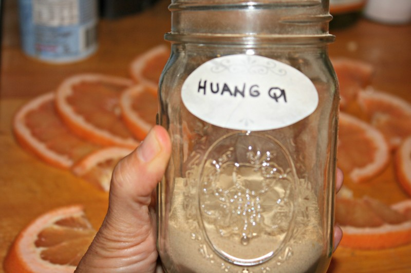 huang qi jar in hand