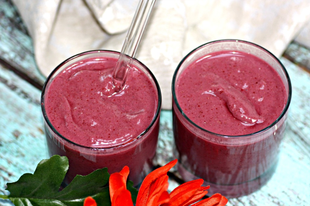 Blackberry Cherry Protein Smoothie
