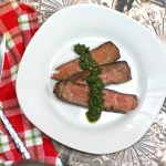 Tequila-Marinated London Broil With Fresh Herb Sauce