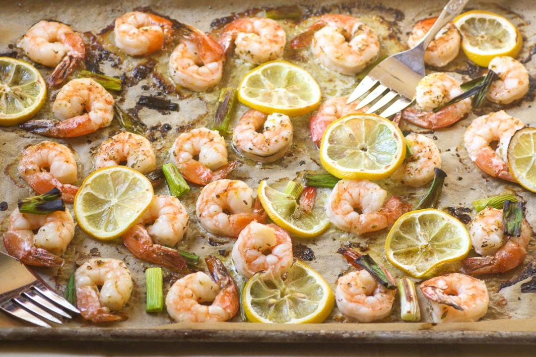 roasted lemon shrimp