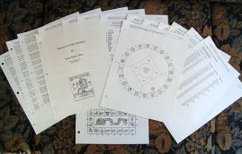Photo of 15 page Mayan Astrology report