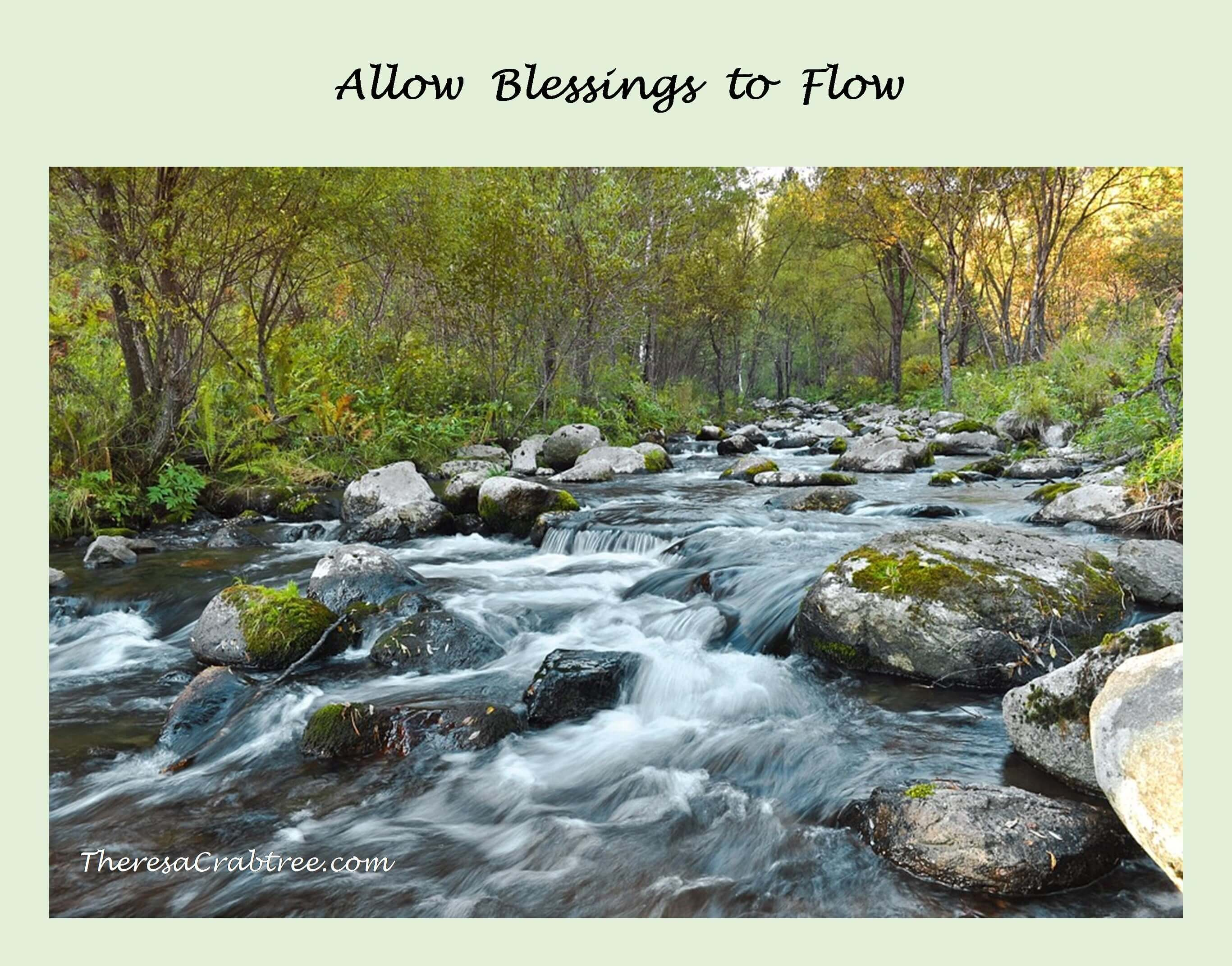 Allow Blessings to Flow