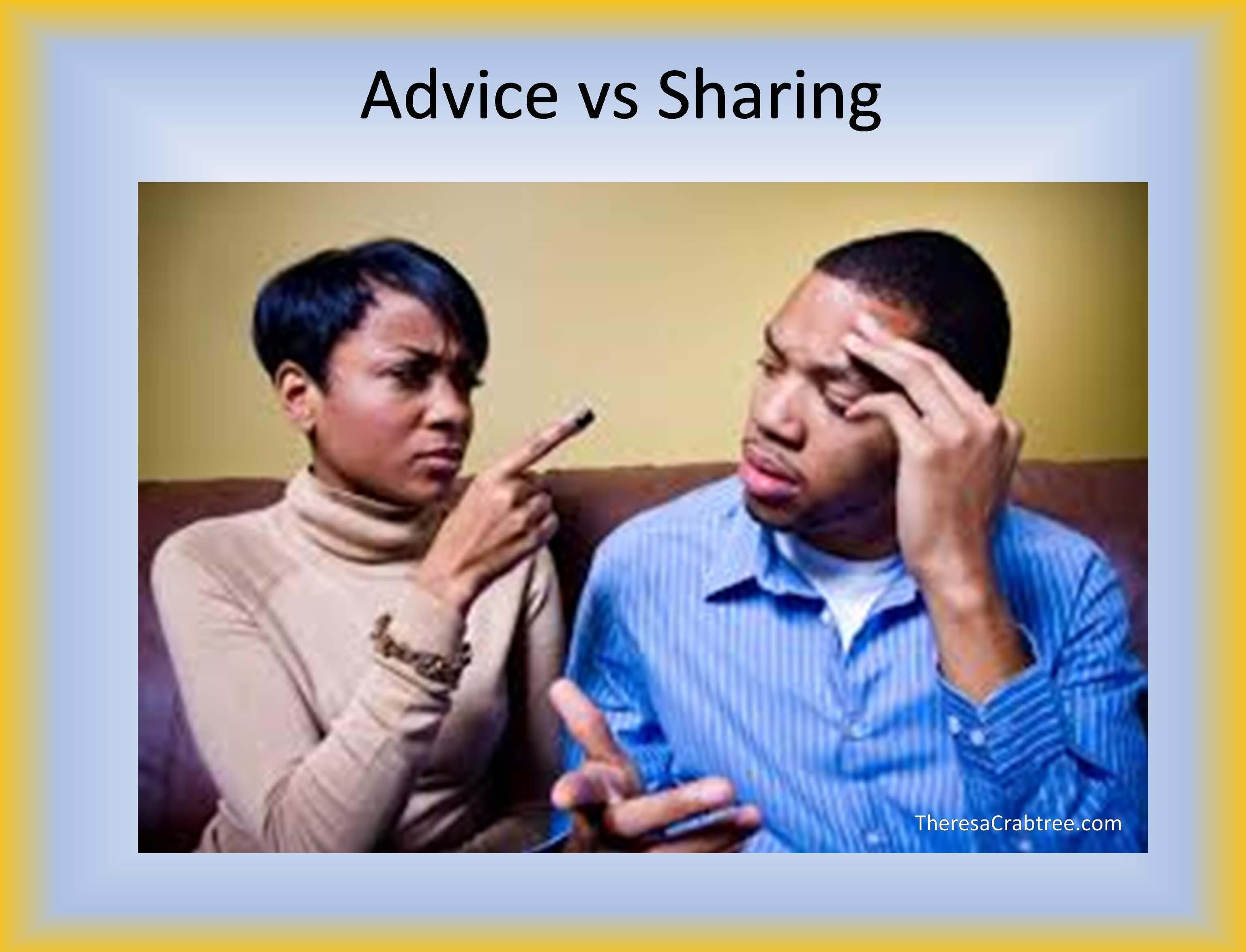 Soul Connection 60 ~ Advice vs Sharing