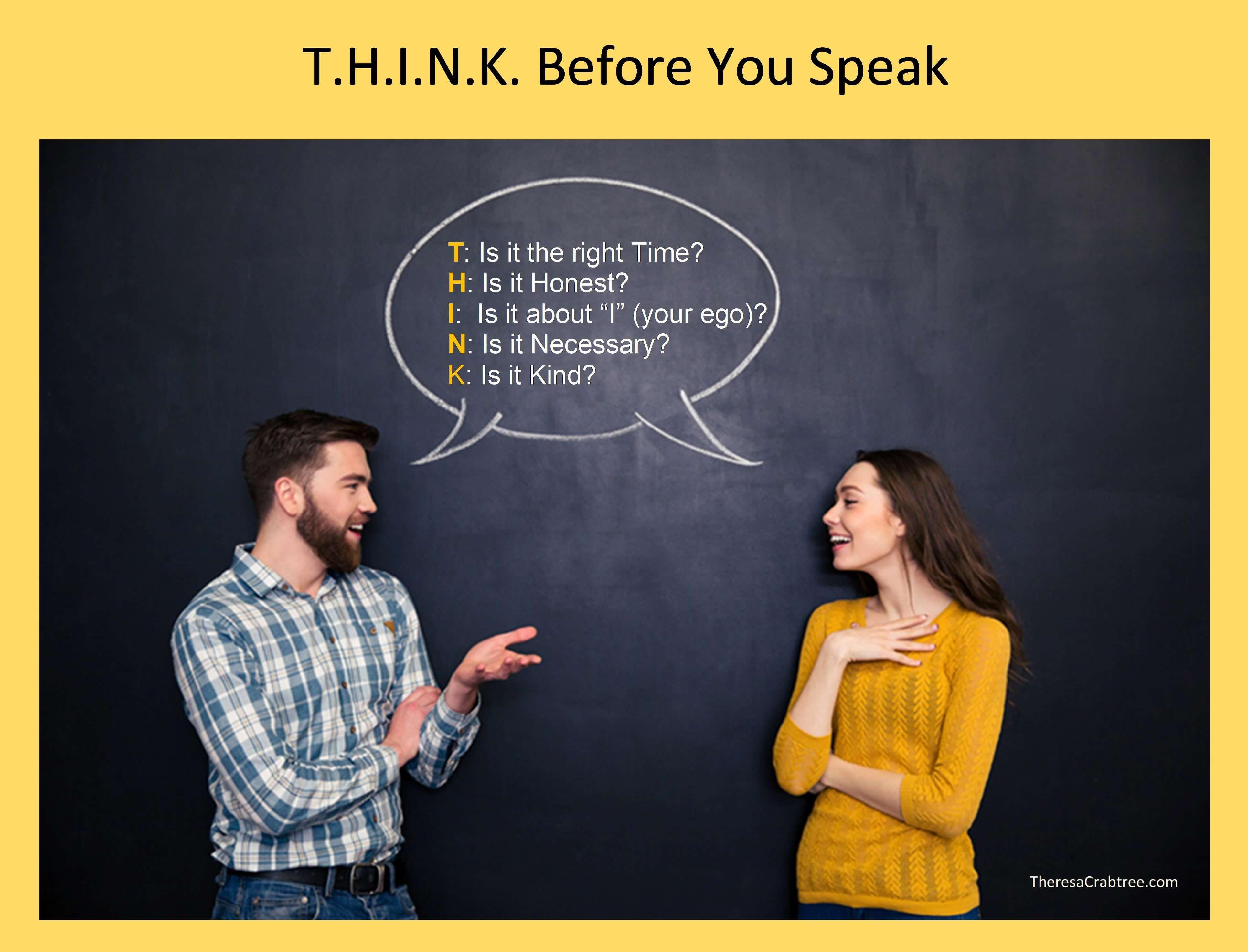 Soul Connection 85 ~ T.H.I.N.K. Before You Speak