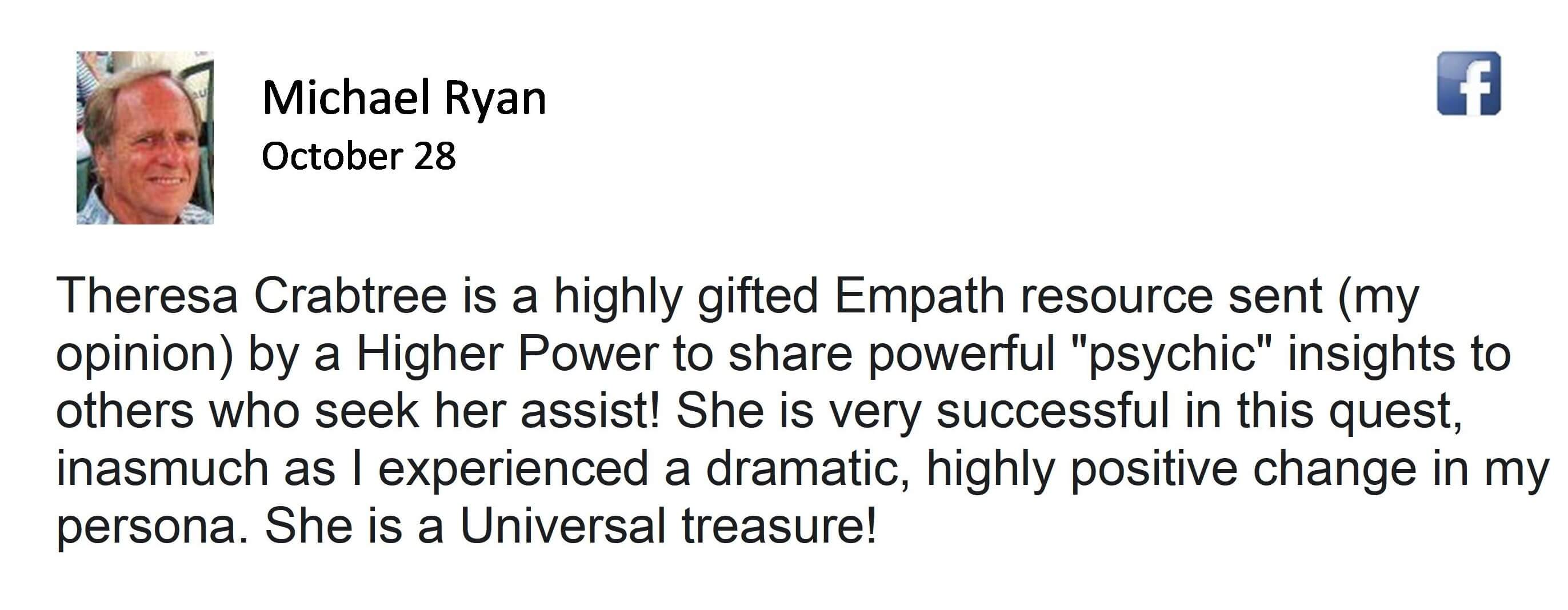 Client Testimonial for Spiritual Growth and Demonic Release