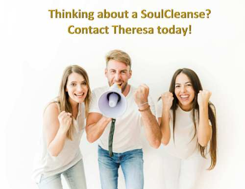 3 people with megaphone saying get a SoulCleanse today!