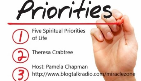 Hand writing Priorities of Spiritual life