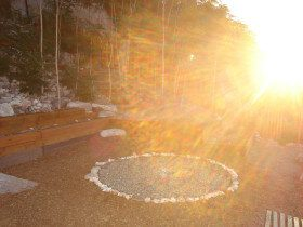 Heart Shaped Light in Medicine Wheel
