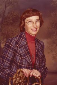 My mother in her librarian days