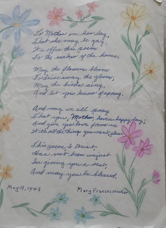 MFC poem to Mother 20150311_152522