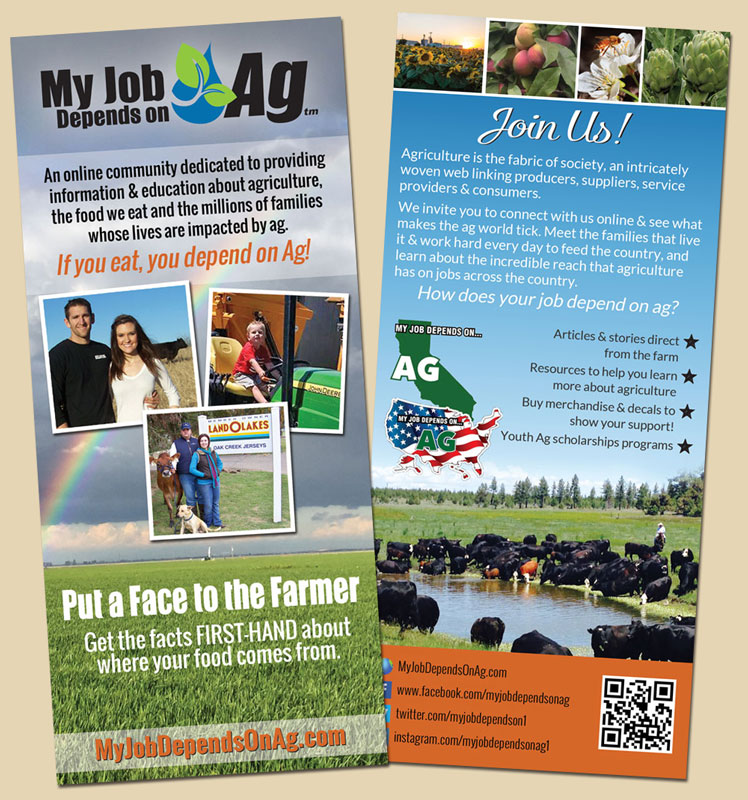 My Job Depends on Ag Rack Card