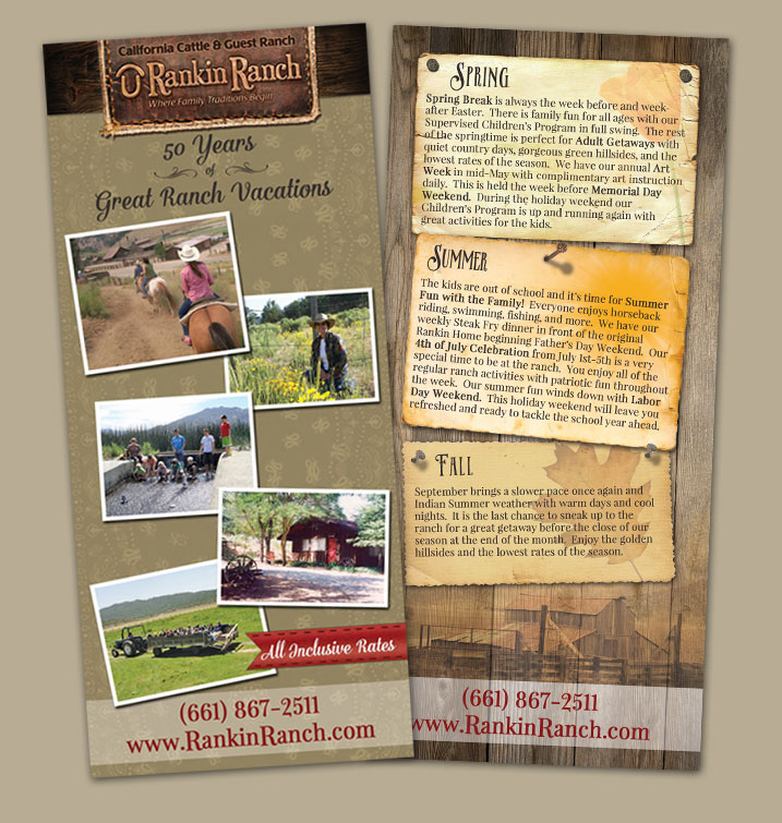 Rankin Ranch rack card