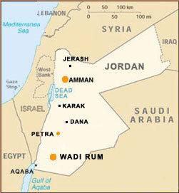 Map of Jordan