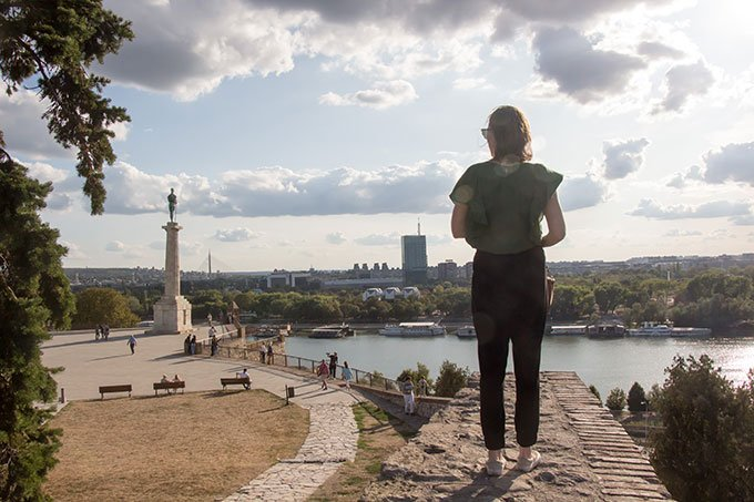 View from the top of Kalemagdan fortress: Things to do in Belgrade
