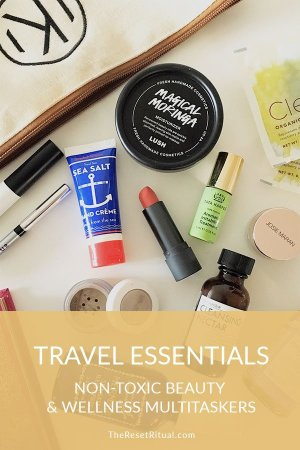 Best nontoxic beauty travel essentials and travel wellness must-haves for when you're packing light.