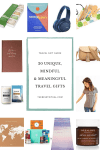 Unique travel gift collage