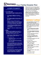 Family Disaster Plan Document