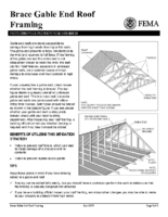 Brace Gable End Roof Framing