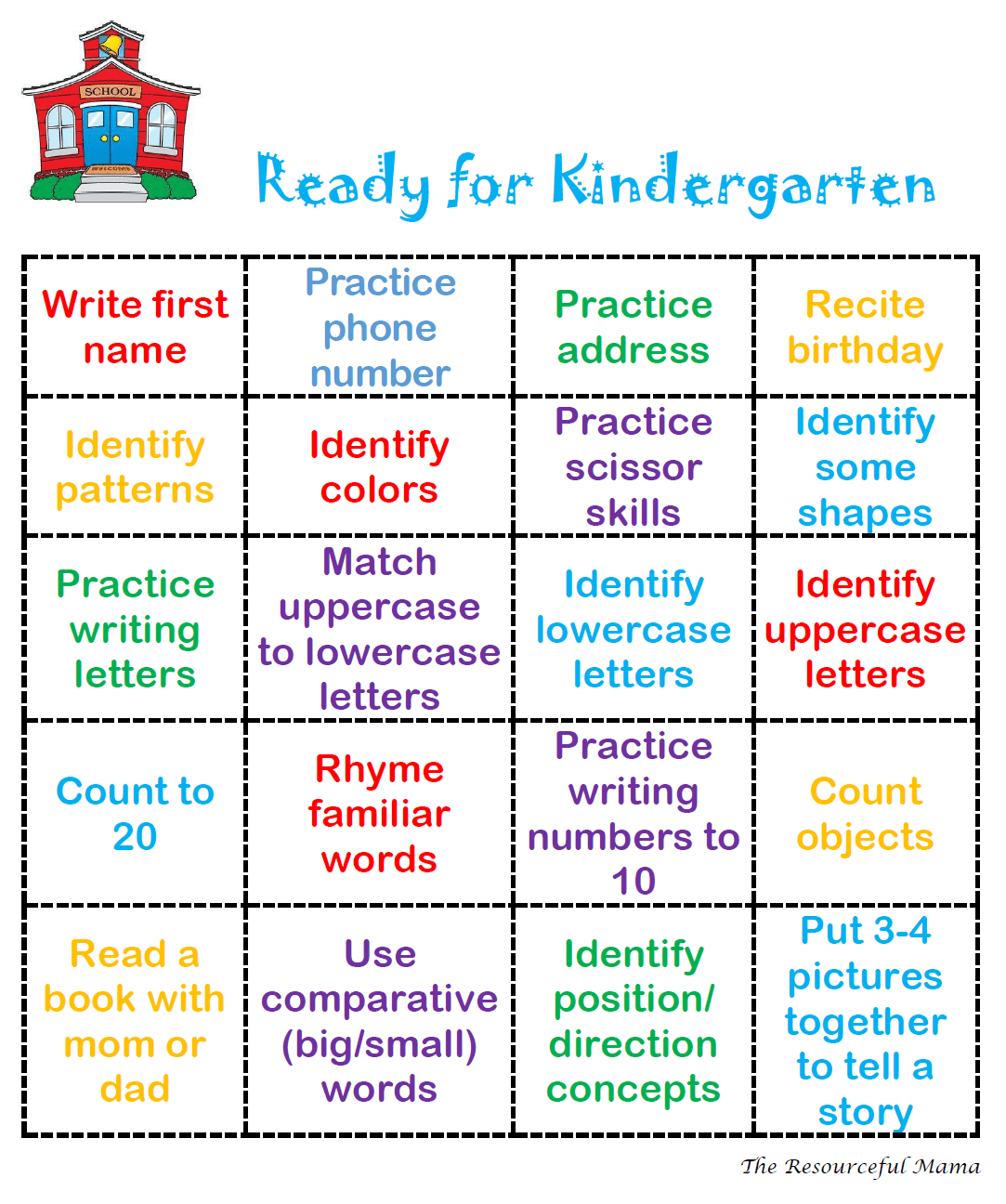 Do You Have Any Kids Entering Kindergarten This Fall